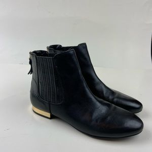 Ivanka Trump Preston Black Leather Ankle Booties